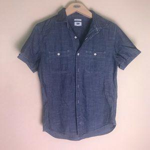 Old Navy denim short sleeve shirt - medium